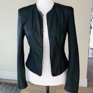 Zara | Gorgeous faux leather blazer